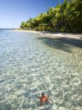 Panama, Bocas Del Toro Province, Colon Island Star Beach, Star Fish in Sea Photographic Print by Jane Sweeney