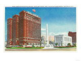 Buffalo, New York - NY State Office, Statler Hotel, McKinley Monument View Prints by  Lantern Press