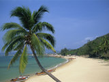 China, Hainan Island, Sanya, Beach Scene at Tianya-Haijiao Tourist Zone Photographic Print by Steve Vidler