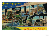 Laguna Beach, California - Large Letter Scenes Prints by  Lantern Press