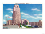 Buffalo, New York - Exterior View of the NY Central Terminal Bldg Prints by  Lantern Press