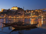 Ponte de Dom Luis I and Port Carrying Barcos, Porto, Portugal Photographic Print by Alan Copson