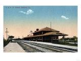 Denison, Iowa - C & NW Railroad Depot Prints by  Lantern Press