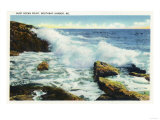 Boothbay Harbor, Maine - View of the Surf at Ocean Point Prints by  Lantern Press