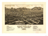 Colorado - Panoramic Map of Buena Vista Art by  Lantern Press