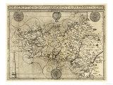 France - Panoramic Map Art