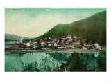 Ketchikan, Alaska Town View - First City in Alaska Prints