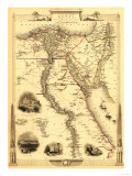 Egypt and Arabia - Panoramic Map Kunstdrucke von  Lantern Press