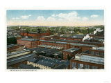 Bridgeport, Connecticut - Aerial View of the Union Metallic Cartridge Co Bldgs Prints by  Lantern Press
