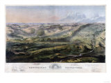 Battle of Gettysburg - Civil War Panoramic Map Prints by  Lantern Press