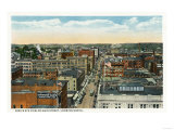 Bridgeport, Connecticut - Northern Aerial View of Main Street Prints