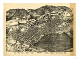 Colorado - Panoramic Map of Aspen - Aspen, CO Prints