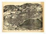 Colorado - Panoramic Map of Aspen - Aspen, CO Prints