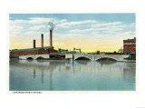 Bridgeport, Connecticut - Waterfront View of the Congress Street Bridge Prints