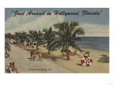 Hollywood Beach, Florida - View of Beach Prints by  Lantern Press