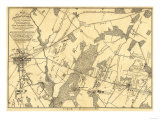 Battle of Gettysburg - Civil War Panoramic Map Prints by  Lantern Press