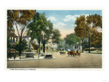 Bridgeport, Connecticut - View of Park and Fairfield Avenues Prints