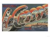 La Crosse, Wisconsin - Large Letter Scenes Prints