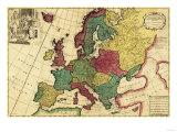 Europe - Panoramic Map Art