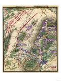 Battle of Gettysburg - Civil War Panoramic Map Art by  Lantern Press