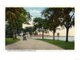 Bridgeport, Connecticut - Seaside Park Drive View Showing Locomobile Company Art