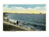 Bridgeport, Connecticut - Seaside Park View of the Sound Prints by  Lantern Press