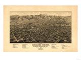 Colorado - Panoramic Map of Colorado Springs No. 1 Prints