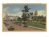 Boise, ID - View of Capital Park & Surrounding Bldgs Prints by  Lantern Press