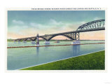 Buffalo, New York - View of the Peace Bridge over Niagara River Prints by  Lantern Press