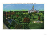 Hartford, Connecticut - View of the State Capitol Grounds, Memorial Arch Prints by  Lantern Press