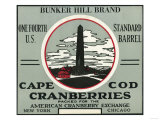 Cape Cod, Massachusetts - Bunker Hill Brand Cranberry Label Prints by  Lantern Press