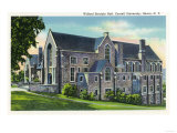 Ithaca, New York - Exterior View of the Willard Straight Hall, Cornell University Prints by  Lantern Press