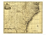 North and South Carolina & Georgia - Panoramic Map Prints by  Lantern Press