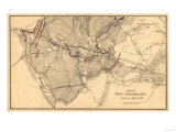 Battle of Chancellorsville - Civil War Panoramic Map Prints by  Lantern Press