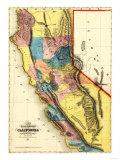 California - Panoramic Map Prints
