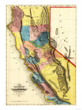 California - Panoramic Map Prints by  Lantern Press
