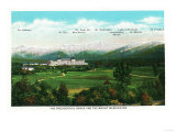 Bretton Woods, NH - Mt Washington Hotel, Presidential Range View No. 3 Prints