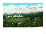 Bretton Woods, NH - Mt Washington Hotel, Presidential Range View No. 3 Prints