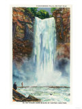 Ithaca, New York - View of Taughannock Falls from the Bottom Prints by  Lantern Press