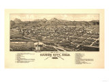 Colorado - Panoramic Map of Canon City Prints by  Lantern Press