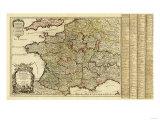 France - Panoramic Map Prints