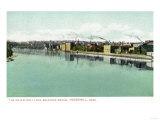 Haverhill, Massachusetts - Bradford Bridge View of the Waterfront Prints by  Lantern Press