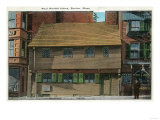 Boston, Massachusetts - Exterior View of the Paul Revere House No. 3 Prints by  Lantern Press