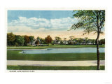 Bridgeport, Connecticut - Seaside Park View of Mirror Lake Prints