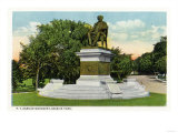 Bridgeport, Connecticut - Seaside Park View of the P T Barnum Monument Art by  Lantern Press