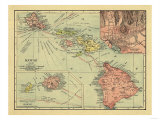 Hawaii - Panoramic State Map Prints