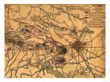 Battle of Gettysburg - Civil War Panoramic Map Affiches