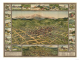 Colorado - Panoramic Map of Cripple Creek No. 2 Prints by  Lantern Press