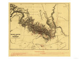 Grand Canyon of Colorado River - Panoramic Map Prints by  Lantern Press