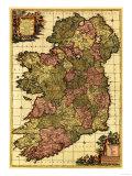 Ireland - Panoramic Map Affiches par  Lantern Press